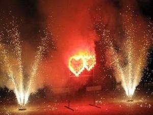 Салют в форме сердца